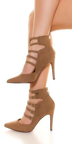 Dámske vysoké topánky s remienkami