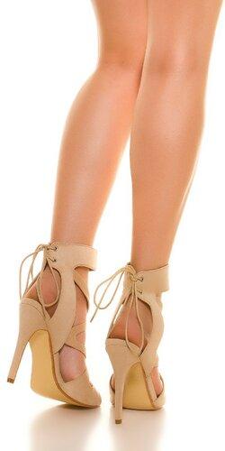 Dámske letné sandálky Béžová