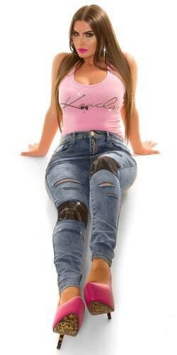 Džínsy zničeného vzhľadu pre moletky