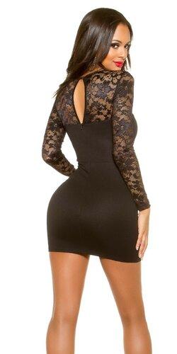 Mini šaty s dlhými rukávmi KouCla