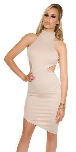 Dámske asymetrické mini šaty