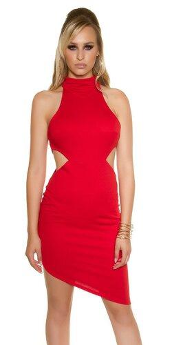 Dámske asymetrické mini šaty | Červená