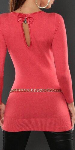 Dámsky klasický jednofarebný sveter