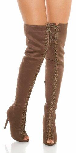Dámske luxusné čižmy nad kolená ,,KylieJ. look,,