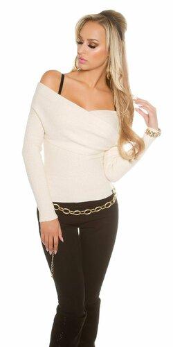 Dámsky sveter ,,Carmen,, s odhalenými ramenami