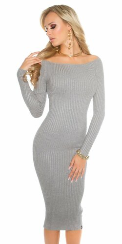 Značkové dámske pletené maxi šaty