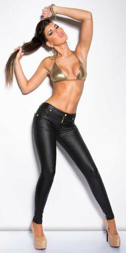 Sexy dámske nohavice koženého vzhľadu KouCla