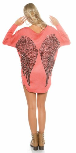 Dámsky ležérny sveter s anjelskými krídlami
