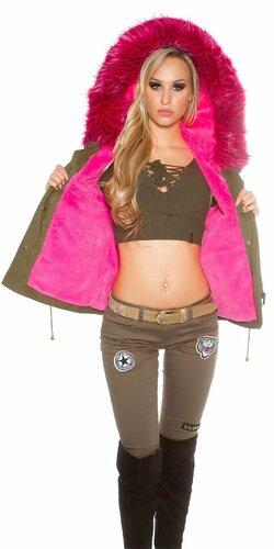 Dámska luxusná vesta ,,army look,,
