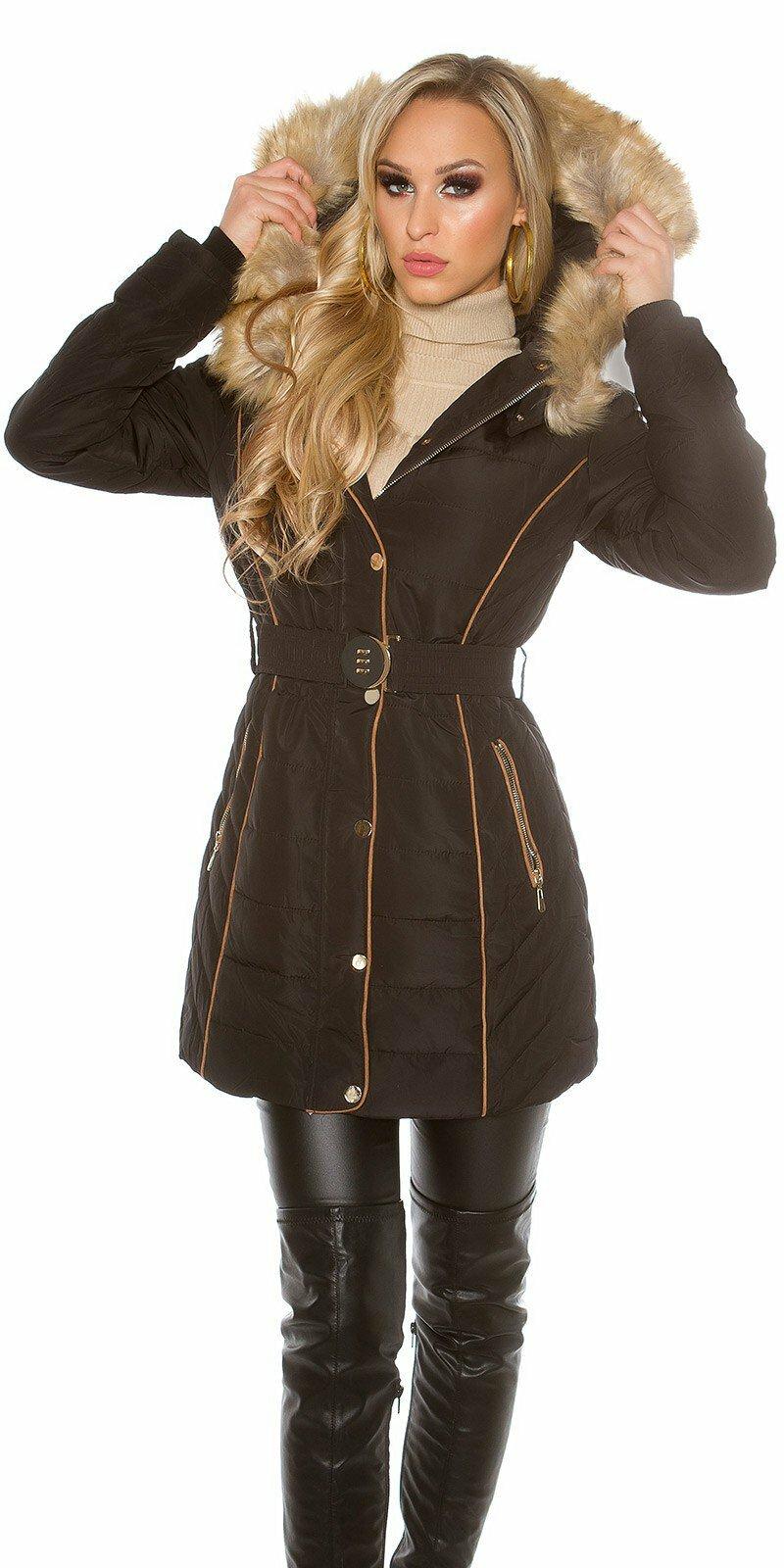 Dámska dlhá zimná bunda - NajlepsiaModa.sk 93d2f3d840c