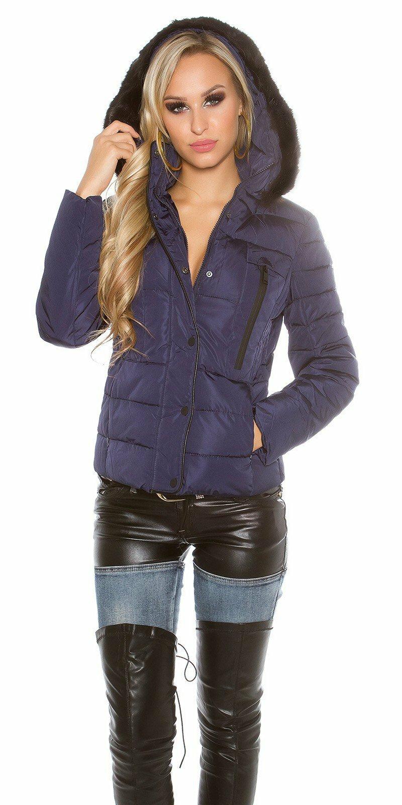 Dámska zimná bunda  Veľkosť XL Farba Tmavomodrá dc99cf0de2d