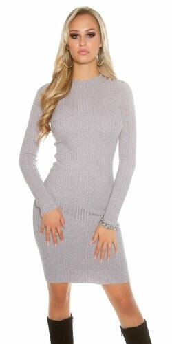 Dámske dlhé pletené šaty