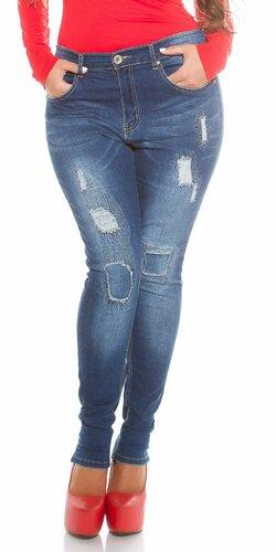 Dámske džínsy pre moletky s rozparkami