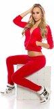 Dámska bavlnená športová súprava Červená