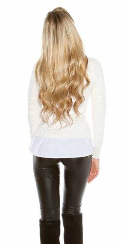 Dámska blúzka/sveter (2v1) KouCla Biela