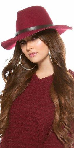 Dámsky klobúk | Bordová