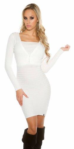 Dámske úpletové šaty KouCla so zipsom