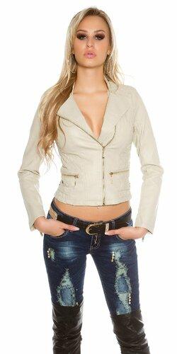 Dámska bunda KouCla s prešívaním | Béžová