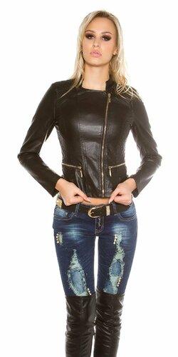 Dámska bunda KouCla s prešívaním Čierna