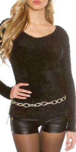 Dámsky huňatý sveter
