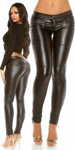 Kožené nohavice Koucla so zipsami