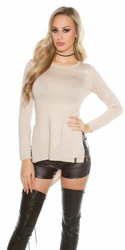Lesklý glitrovaný dámsky sveter
