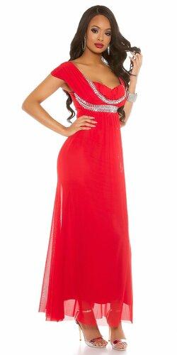 Dámske večerné šaty ,,carpet look,, Červená