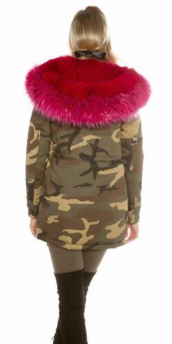 Dámska maskáčová bunda Ružová