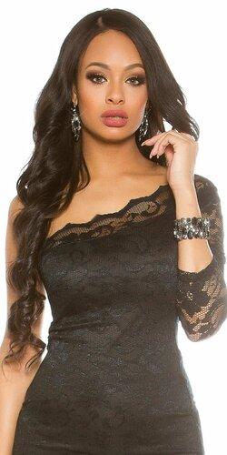 Elegantný dámsky kamienkový náramok Čierna