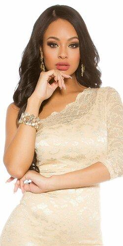 Elegantný dámsky kamienkový náramok | Zlatá
