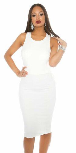 Dámske midi šaty Biela