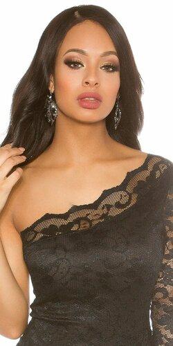 Elegantné dámske náušnice | Čierna