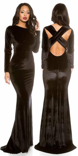 Gala večerné šaty ,,velvet look,,