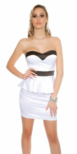 Štýlové mini šaty KouCla Biela