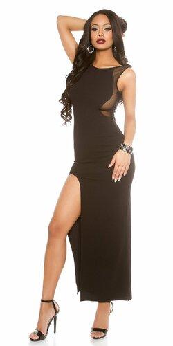 Sexy dámske maxi šaty Čierna