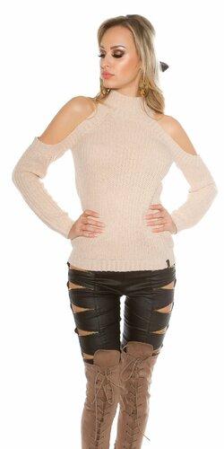 Dámsky dlhý pletený sveter