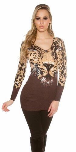 Leopardí dámsky sveter Leopard