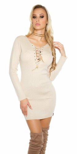 Dámske úpletové mini šaty KouCla