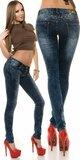 Dámske úzke džínsy Modrá
