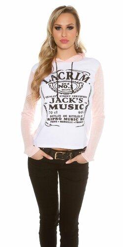 """Dámska mikina """"Jack s Music"""" (Bledá ružová)"""
