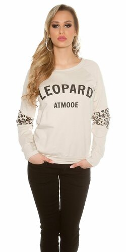 """Dámsky sveter """"Leopard"""" Béžová"""