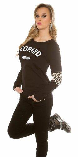 "Dámsky sveter ""Leopard"" Čierna"