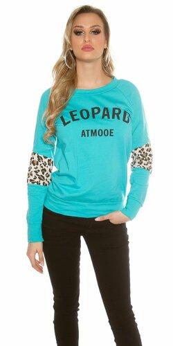"""Dámsky sveter """"Leopard"""" Mintová"""