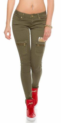 Push-up úzke džínsy s vreckami