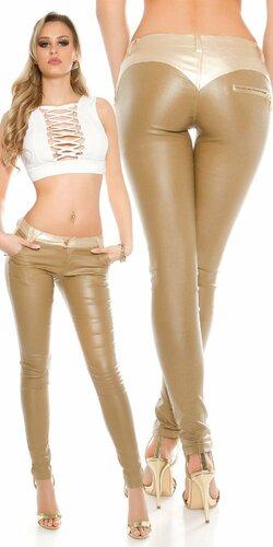 Sexy dámske nohavice koženého vzhľadu