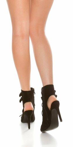 Dámske sexy členkové topánky Čierna