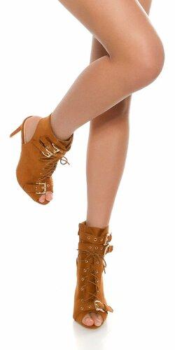 Dámske sexy členkové topánky | Bronzová