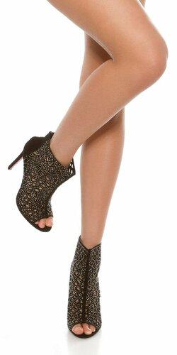 Dámske členkové topánky | Čierno-strieborná