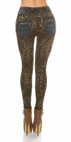 Dámske legíny s leopardími vzormi
