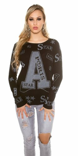 Dámsky sveter ,,A,, | Čierna